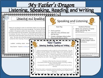 My Father's Dragon ELA Intervention for ESL and Special Needs