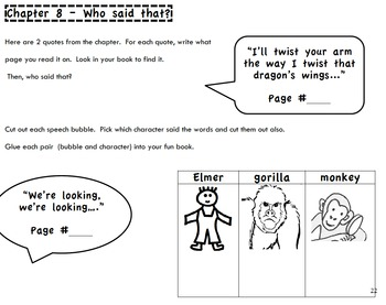 My Father's Dragon:  FUN BOOK (Activity Book) for Reading Comprehension
