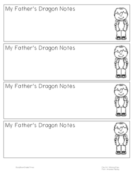 My Father's Dragon Notetaking Bookmark