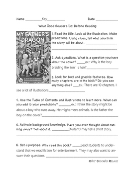 My Father's Dragon Prereading Activity