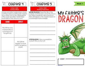 My Father's Dragon Novel Study Unit