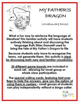 My Father's Dragon Vocabulary Bingo