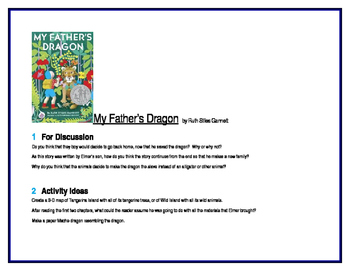 My Father's Dragon for Literature Circles