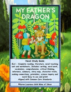 My Father's Dragon ELA Novel Book Study Guide Complete!