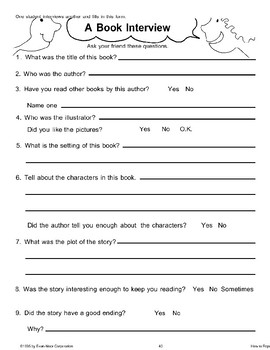 My Favorite Author (Book Reports)