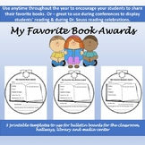 My Favorite Book Awards: Encourage year-long reading and/or Read Across America!
