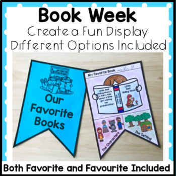 My Favorite Book Display Great for Book Week, Library and Read Across America.