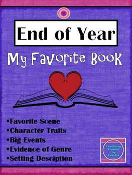 My Favorite Book Project for End OF Year