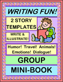 """Write a Group Story!"" - Write a Group Mini-Book for Creative Writing Fun!"