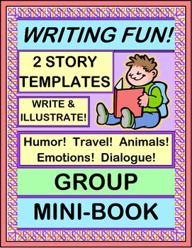"""Write a Group Story!"" - Write a Group Mini-Book for Creative Writing Fun!"