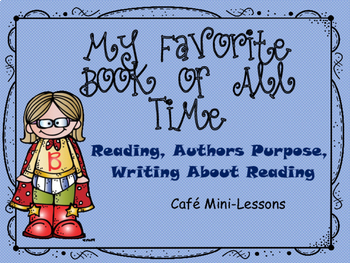 My Favorite Book of all Time and other Cafe Mini-Lessons