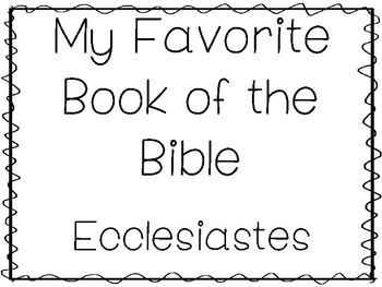 Ecclesiastes Worksheets & Teaching Resources | Teachers Pay