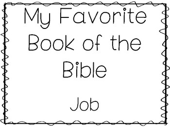 My Favorite Book of the Bible-Job Tracing Worksheets and Activities  Bible  Study