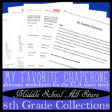 My Favorite Chaperone - Alternative Assignments: Creative Writing, Vocab, & more