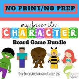Board Games Favorite Characters No Print Speech Therapy  