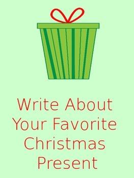 My Favorite Christmas Present Writing