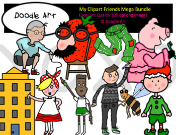 My Favorite Clipart Friends MEGA Bundle