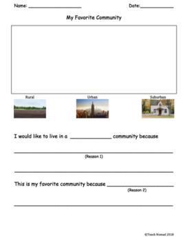 My Favorite Community Worksheets