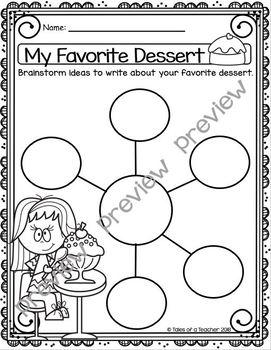 My Favorite Dessert ~ Writing Activity