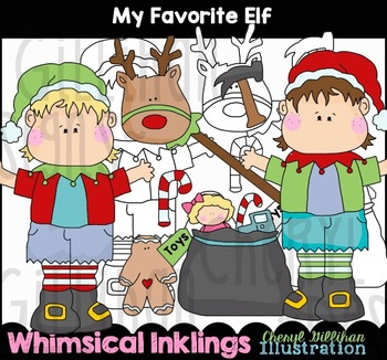 My Favorite Elf Clipart Collection NO LICENSE REQUIRED