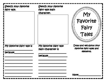 My Favorite Fairy Tales & My Favorite Fables Trifolds