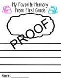 My Favorite First Grade Memory