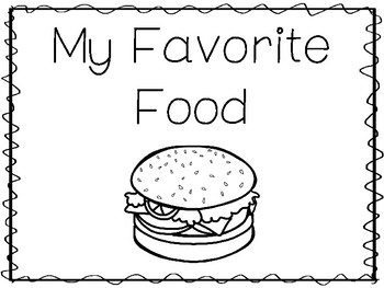 My Favorite Food-Burger Preschool Trace and Color Worksheets and Activities