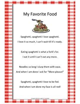 Poetry - My Favorite Food