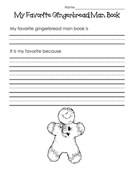 My Favorite Gingerbread Man Book
