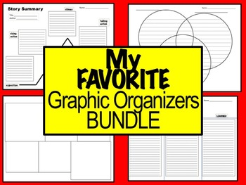 My Favorite Graphic Organizers (Bundle of 18)