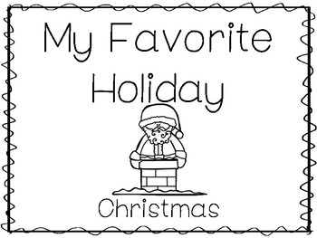 My Favorite Holiday Christmas Trace And Color Worksheets Preschool Handwriting