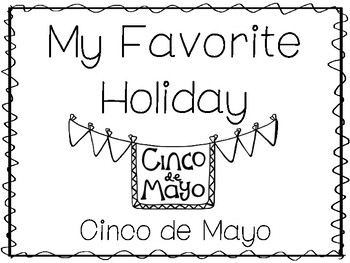 My Favorite Holiday-Cinco de Mayo Trace and Color Worksheets. Preschool Handwrit