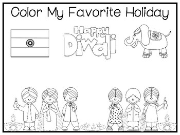 My Favorite Holiday-Diwali Trace and Color Worksheets. Preschool Handwriting.