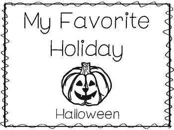 My Favorite Holiday-Halloween Trace and Color Worksheets. Preschool Handwriting.