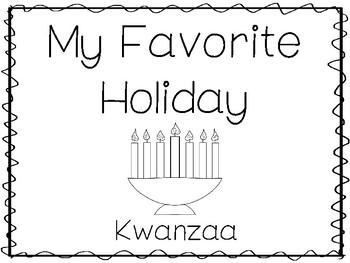 My Favorite Holiday-Kwanzaa Trace and Color Worksheets. Preschool Handwriting.