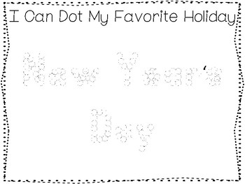 My Favorite Holiday-New Year's Day Trace and Color Worksheets. Preschool Handwri