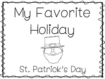 My Favorite Holiday-St. Patrick's Day Trace and Color Worksheets. Preschool Hand