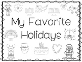 My Favorite Holidays Trace and Color Worksheets. Preschool Handwriting.