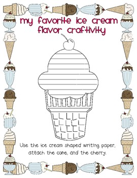 My Favorite Ice Cream Flavor (Opinion Writing/Common Core Aligned)
