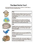 My Favorite Kind of Animal: Writing and Comprehension Practice