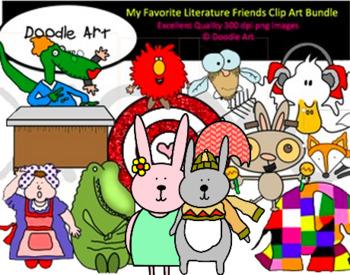 My Favorite Literature Friends MEGA Clipart Bundle