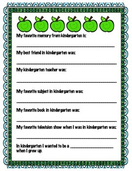 My Favorite Kindergarten Memories