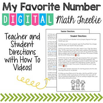 My Favorite Number Digital Math Freebie {PowerPoint or Google Slides Show}