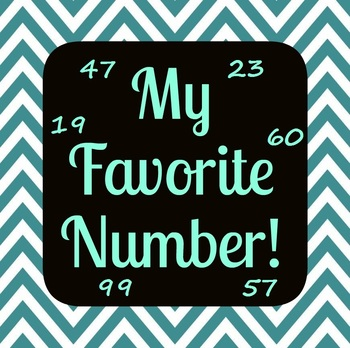 My Favorite Number activity - Sub activity or beginning/end of the year