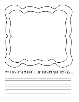 My Favorite Part of Kindergarten...