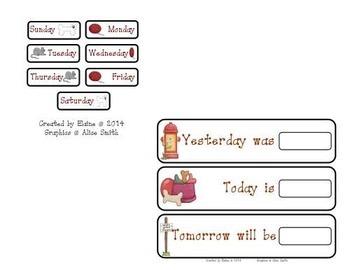 Classroom Pet Calendar Set