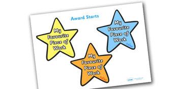 My Favorite Piece of Work Award Star
