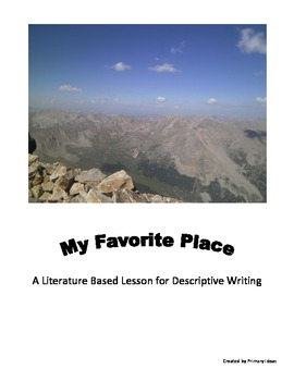 my favorite place descriptive writing lesson graphic organizers