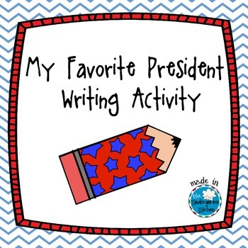 My Favorite President Writing Activity FREE