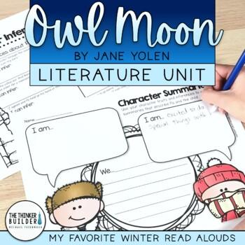 Owl Moon Literature Unit {My Favorite Read Alouds}